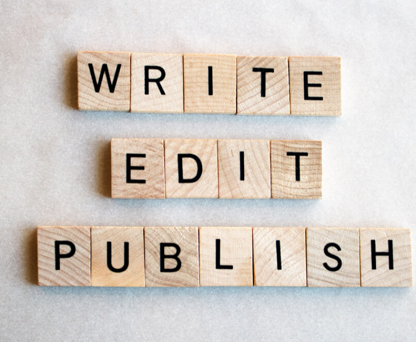 write edit publish wood letters