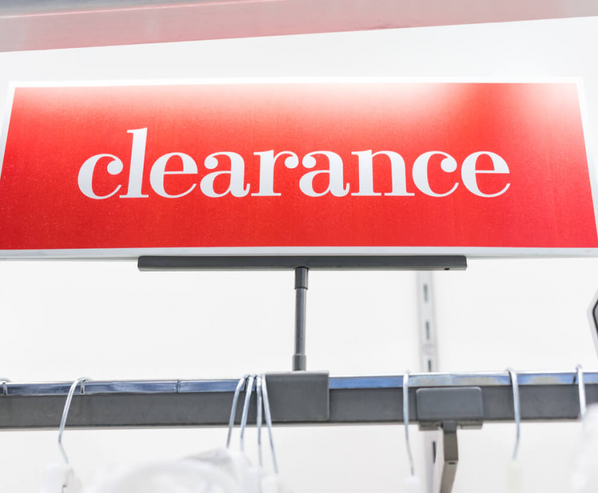 red clearance sale sign