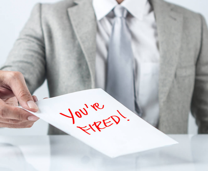 you're fired letter or note